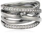 Pandora Pearl Cubic Zirconia Silver Ring - Size O.5 190919CZ-56