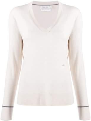 Calvin Klein V-neck slim-fit jumper