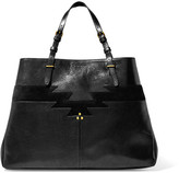 Jerome Dreyfuss Maurice Suede-trimmed Leather Tote - Black