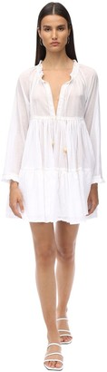Yvonne S Cotton Voile Mini Dress