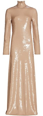 Bottega Veneta Sequin Turtleneck Gown