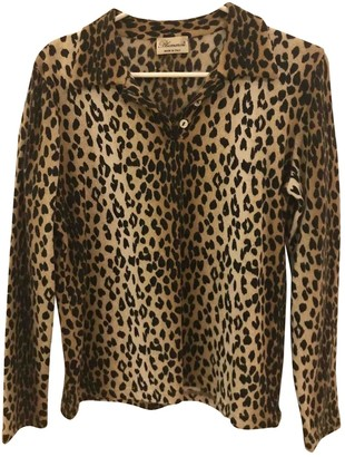 Blumarine Beige Wool Top for Women Vintage