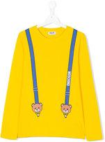 Moschino Kids Teen braces print T-shirt