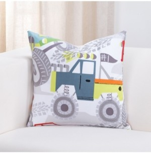 "Crayola Four Wheelin' Monster truck 16"" Designer Throw Pillow"
