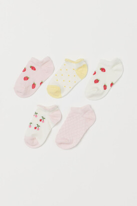 H&M 5-pack Ankle Socks - Pink