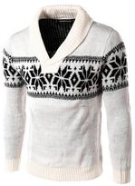 BULUOLANDI Mens Shawl Collar Knitted Pullover Sweater With One Button Point