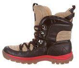 Dolce & Gabbana Leather Hiking Boots