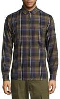 Public School Plaid Retro Cotton Casual Button Down Shirt