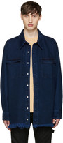 Marques Almeida Indigo Oversized Denim Shirt