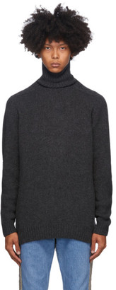Bless Grey Merino Wool and Cashmere Pearlpad Turtleneck