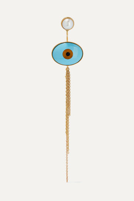 OLE LYNGGAARD COPENHAGEN Lotus 18-karat Yellow And Rose Gold Multi-stone Earring