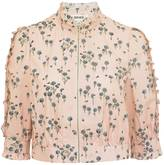 Bora Aksu Floral Print Cotton Cropped Jacket
