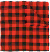 Saint Laurent check scarf - women - Silk/Cashmere/Wool - One Size