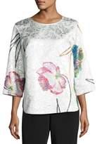 Caroline Rose Rise & Shine Jacquard Top, Plus Size