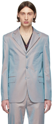 Givenchy Grey and Orange Iridescent Blazer