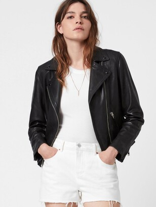 AllSaints Dalby Leather Biker Jacket - Black