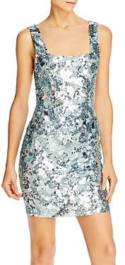 Alice + Olivia Addie Sequin Embellished Bodycon Mini Dress