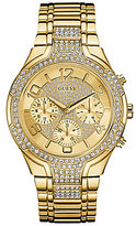 GUESS Multifunction Crystals and Stainless Steel Multifunction Bracelet Watch