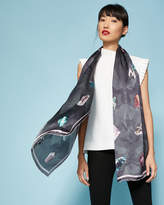 Ted Baker Mirrored Minerals silk long scarf