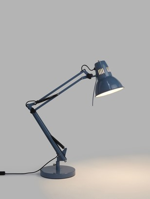 John Lewis & Partners Elliott Task Lamp, Blue