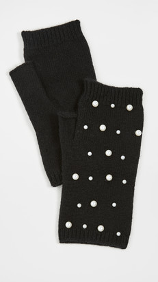 Carolina Amato Mini Pearl Scatter Fingerless Gloves