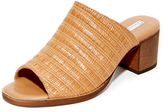 blank canvas Raffia City Mule Sandals