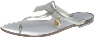 Louis Vuitton Grey Jelly Rubber Sea Star Thong Flats Size 37