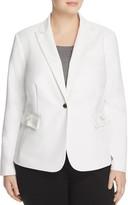 Calvin Klein Plus Single Button Blazer