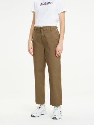 Tommy Hilfiger Straight Fit Garment Dyed Trousers