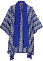 Missoni Draped Crochet-knit Wrap - Blue