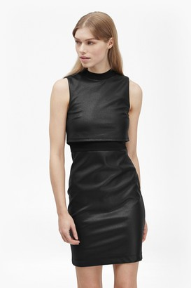 French Connection Cracked Earth Layered Jersey Dress