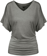 BB Heather Gray Flutter-Sleeve Tee - Plus Too