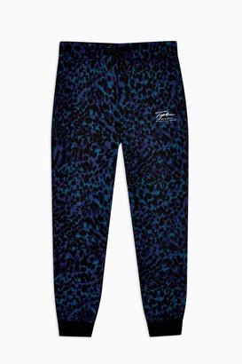 Topman Womens Signature Leopard Print Joggers - Multi