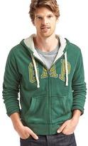 Gap Logo sueded zip hoodie
