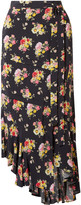 Thumbnail for your product : Preen Line Sibyll Floral-print Crepe De Chine Midi Wrap Skirt