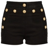 Balmain Sailor stretch-denim shorts