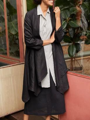 Masai Copenhagen Janessa Long Linen Jacket, Black