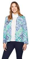 Alfred Dunner Women's Scroll Patch Quilt Jacket