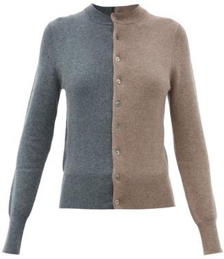 Extreme Cashmere Little Game Bi-colour Stretch-cashmere Cardigan - Brown Multi