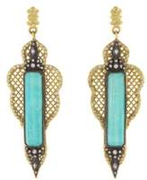 Armenta Old World Large Pointed Mesh Earrings