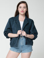 American Apparel Houndstooth Jacquard Woven Jacket