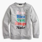 J.Crew French colors sweatshirt