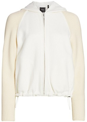 Theory Ribbed Bomber Jacket