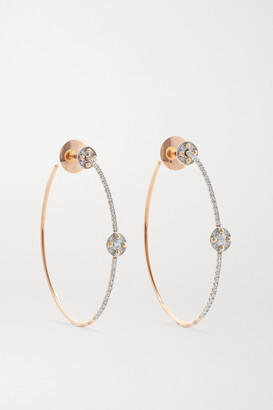 Pomellato M'ama Non M'ama 18-karat Rose Gold Diamond Hoop Earrings - one size