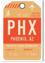 Oliver Gal Phoenix Luggage Tag Wall Art