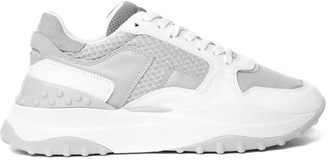Tod's White Leather & Fabric Sneaker
