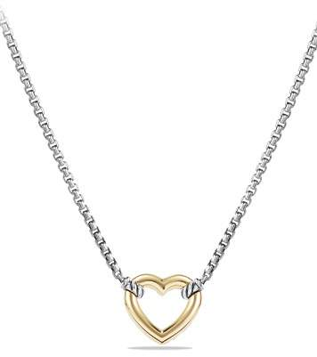 David Yurman Cable Collectibles Heart Necklace with 18K Gold