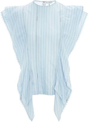 J.W.Anderson Striped Broderie Anglaise-Trimmed Blouse