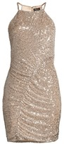 Parker Black Alina Sequin Mini Sheath Dress