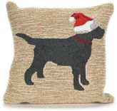 Liora Manné Frontporch Christmas Dog Square Indoor/Outdoor Throw Pillow in Neutral